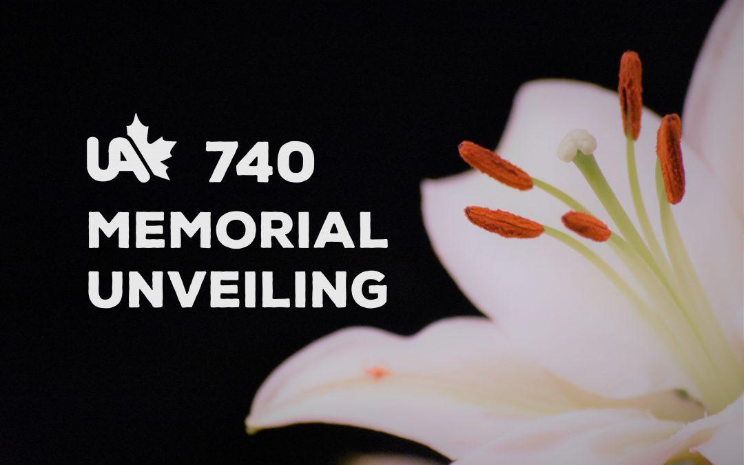 Memorial Unveiling – Postponed