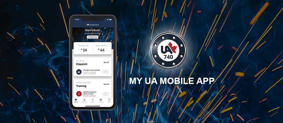 My UA Local 740 Mobile App